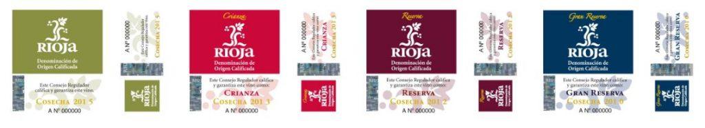 Riojan viinien laatusinetit
