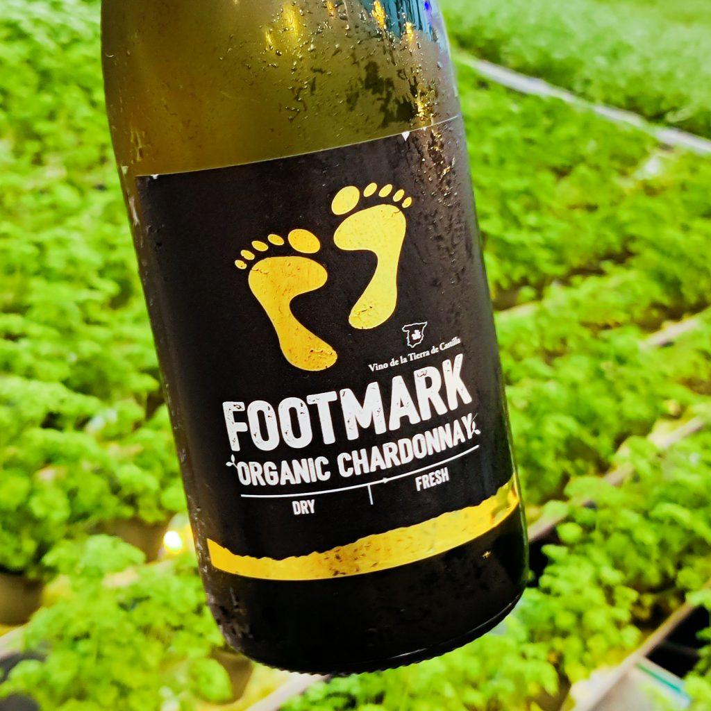 Footmark Organic Chardonnay Vegaaninen viini ja vihreät arvot