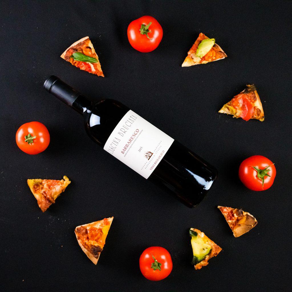 casciana bruciatta, tomaatti ja pizza