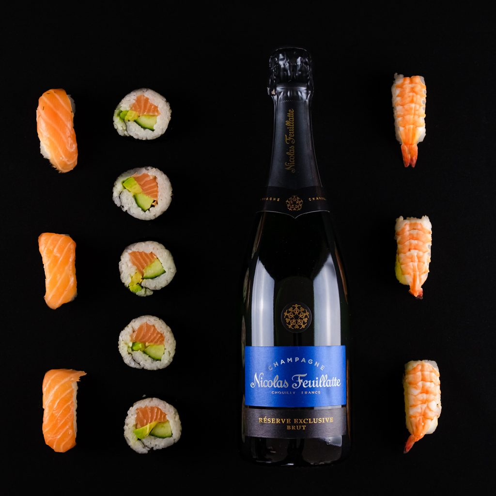 Nicolas feuillatte ja sushi