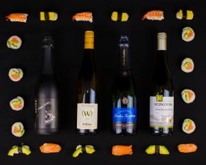sushi ja viini